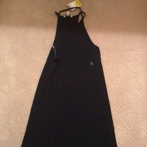 Long black American eagle dress